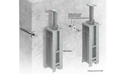 WK wall mounted support – Falsework alternative
