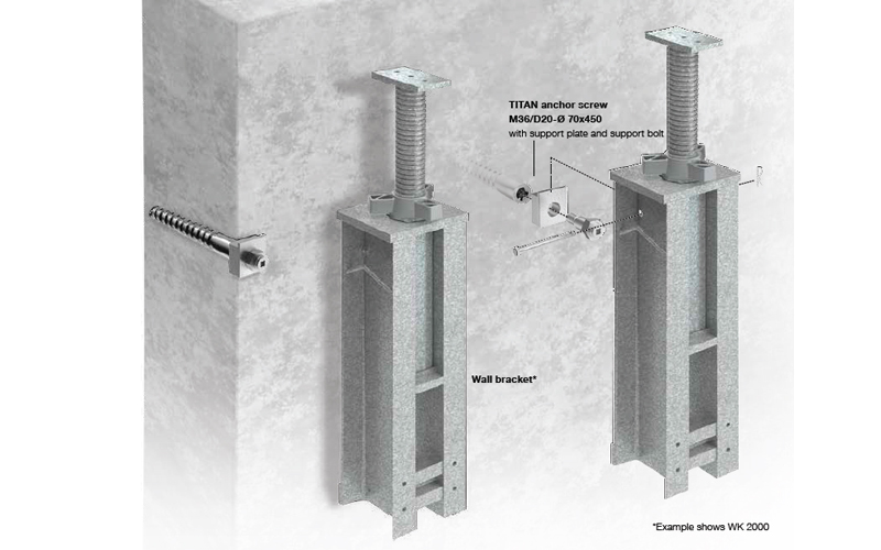 The WT wall mounted support is an ideal falsework alternative